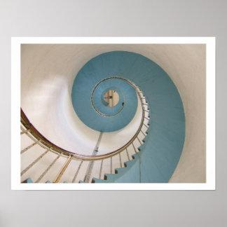 Poster de la escalera espiral del faro