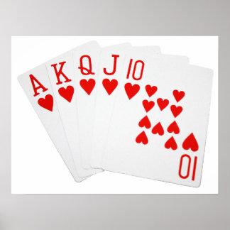 Poster de la escalera real del póker