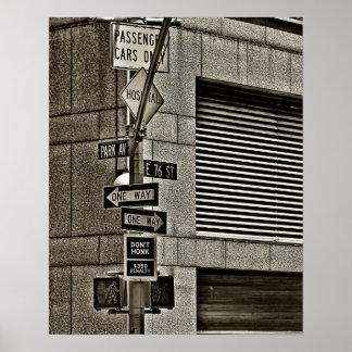 Poster de la escena de NYC Streetcorner Póster