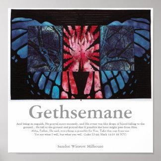 Poster de la escritura de Gethsemane Póster