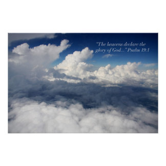 Poster de la escritura del 19:1 del salmo