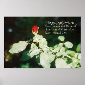 Poster de la escritura del 40:8 de Isaías Póster