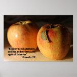 Poster de la escritura del 7:2 de los proverbios