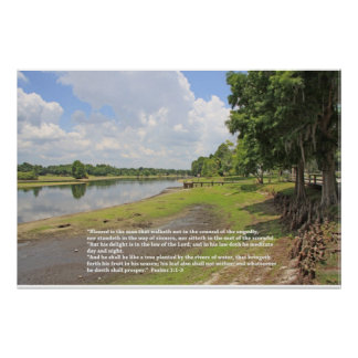 Poster de la escritura del salmo 1 visión horizon