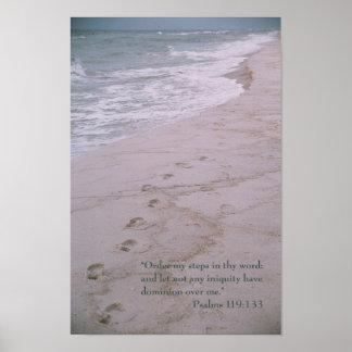 Poster de la escritura -- huellas con 119:133 del