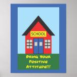 Poster de la escuela de la actitud positiva
