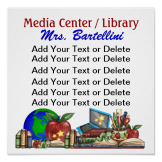 Poster de la escuela/de la biblioteca/de la sala d