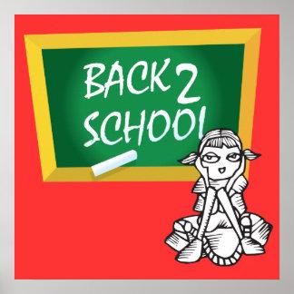 Poster de la escuela de la parte posterior 2