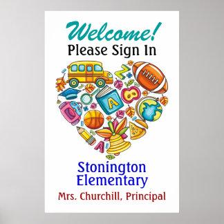 Poster de la escuela/del profesor
