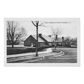 Poster de la escuela del sur CA 1936 de la montaña