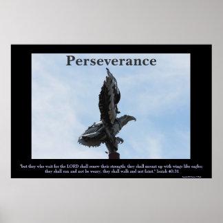 Poster de la escultura de Eagle de la perseverenci