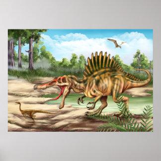Poster de la especie del dinosaurio