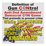 Poster de la ESTAFA de Demócrata de la enmienda de