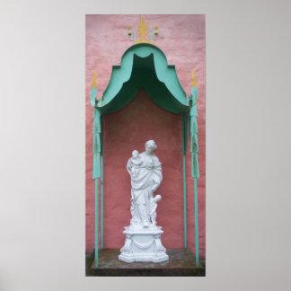 Poster de la estatua de Portmeirion