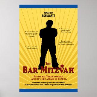 Poster de la estrella de cine de Mitzvah de la bar