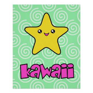 Poster de la estrella de Kawaii