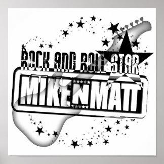 Poster de la estrella del rock-and-roll de MikeNMa
