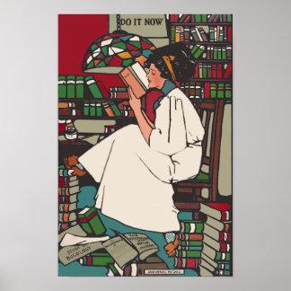 Poster de la estudiante universitaria del vintage
