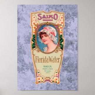 Poster de la etiqueta del perfume del agua de Salk