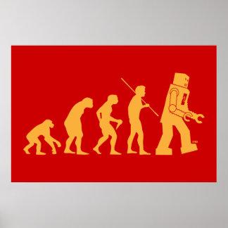 Poster de la evolución del robot