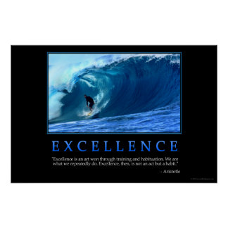 Poster de la excelencia póster
