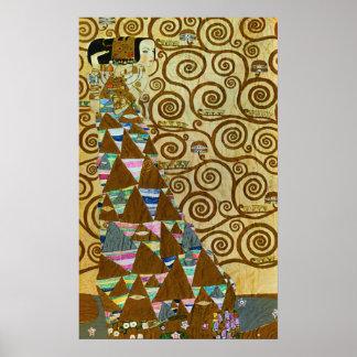 Poster de la expectativa de Gustavo Klimt