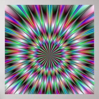 Poster de la explosión del fractal