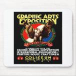 Poster de la expo del arte gráfico 1921 tapetes de raton
