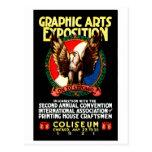Poster de la expo del arte gráfico 1921 tarjeta postal