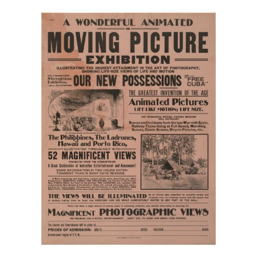Poster de la exposición de la imagen en movimiento