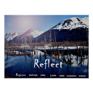 Poster de la expresión de la montaña de las reflex