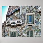 Póster de la fachada de la Casa Batlló de Antoni G Poster