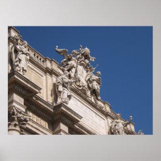 Poster de la fachada de Palazzo Poli
