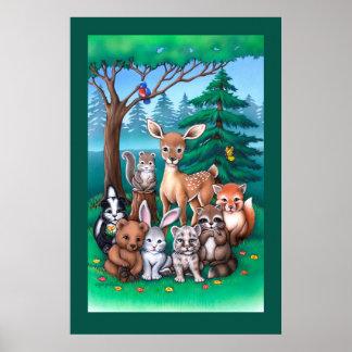 Poster de la familia del bosque