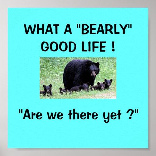 Poster de la familia del oso
