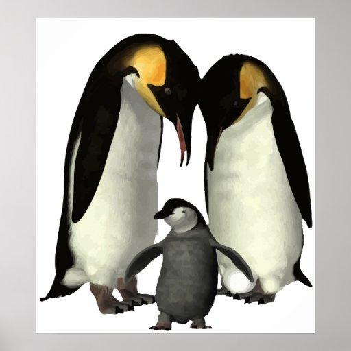 Poster de la familia del pingüino