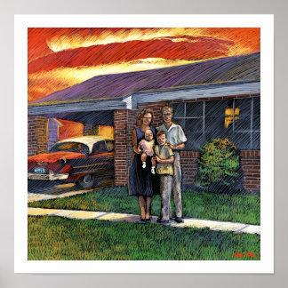 Poster de la familia nuclear
