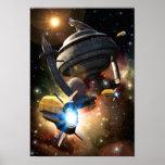 Poster de la fantasía de la estación espacial
