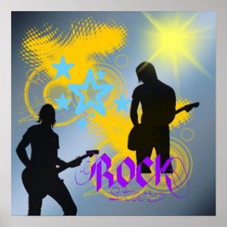 Poster de la fantasía de la estrella del rock