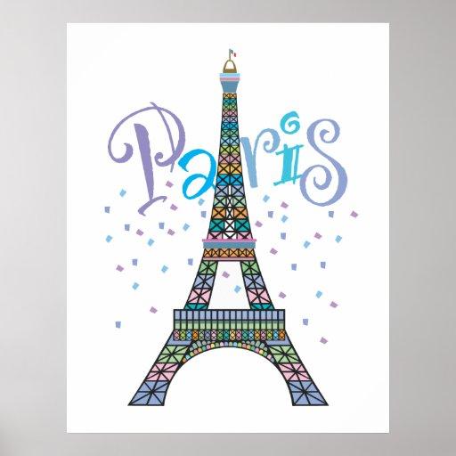 Poster de la fantasía de la torre Eiffel