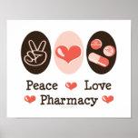 Poster de la farmacia del amor de la paz