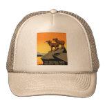 Poster de la fauna del coto del vintage gorra