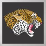 Poster de la fauna del leopardo