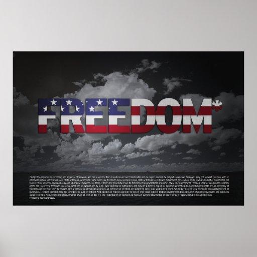 Poster de la Favorable-Libertad del ASTERISCO 36x2