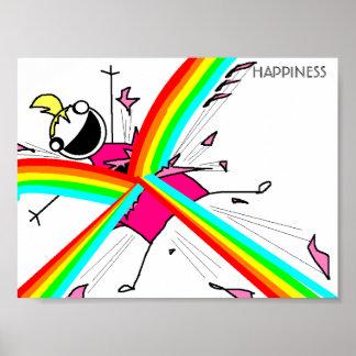 Poster de la felicidad
