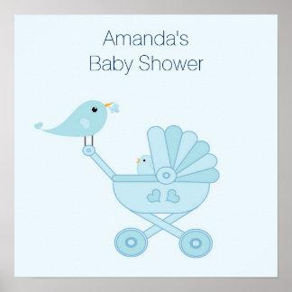 Poster de la fiesta de bienvenida al bebé con los