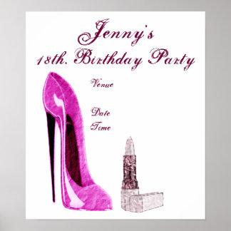 Poster de la fiesta de cumpleaños
