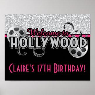 Poster de la fiesta de cumpleaños de Hollywood Póster