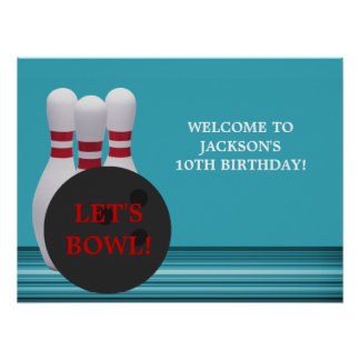 Poster de la fiesta de cumpleaños de los bolos
