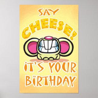 Poster de la fiesta de cumpleaños del QUESO por St
